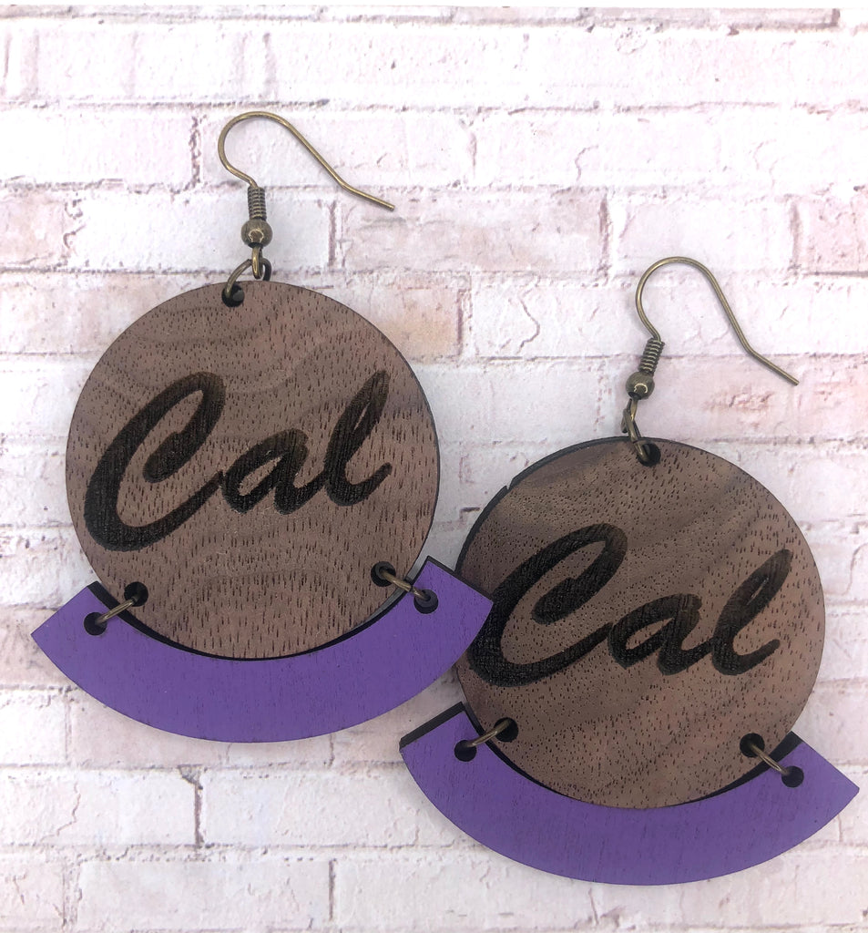 Wooden Cal Earrings