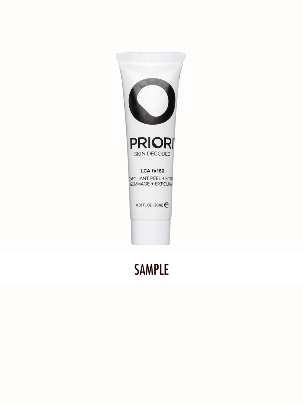 LCA fx160 2xfoliant Peel & Scrub | PRIORI Skincare | Deluxe Sample 20 ml (Tube)