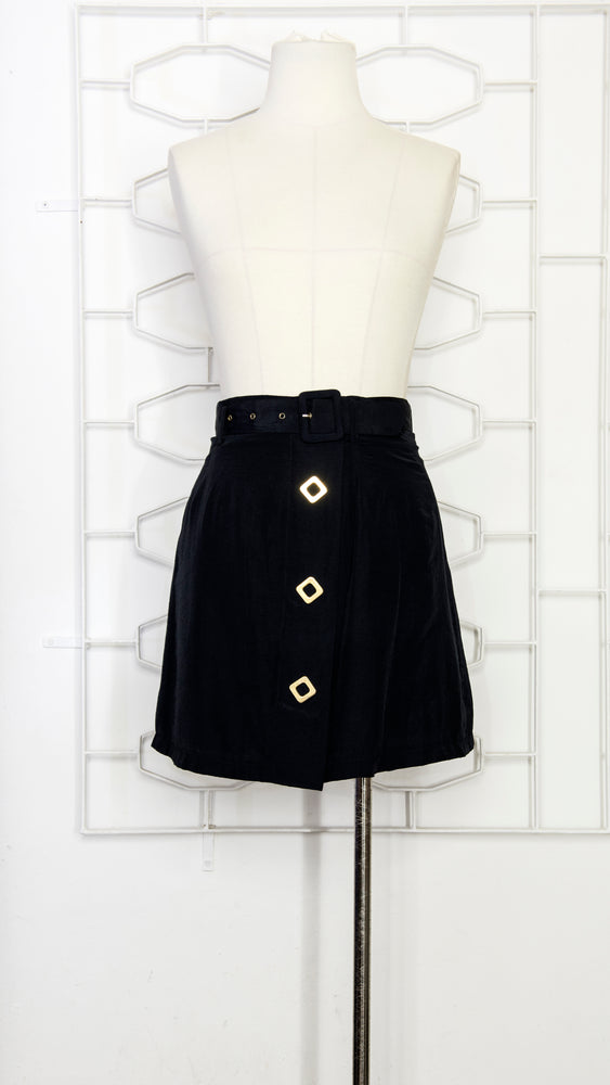 A-line Mini Skirt With Hard-ware