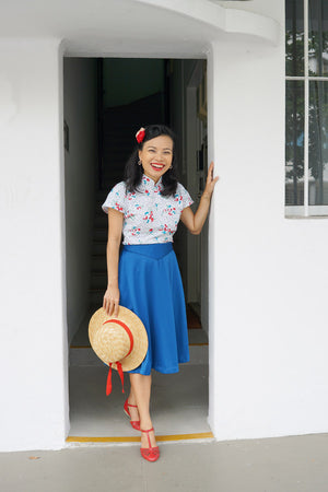 Load image into Gallery viewer, KWEE MUA Printed Cheong Sam Blouse