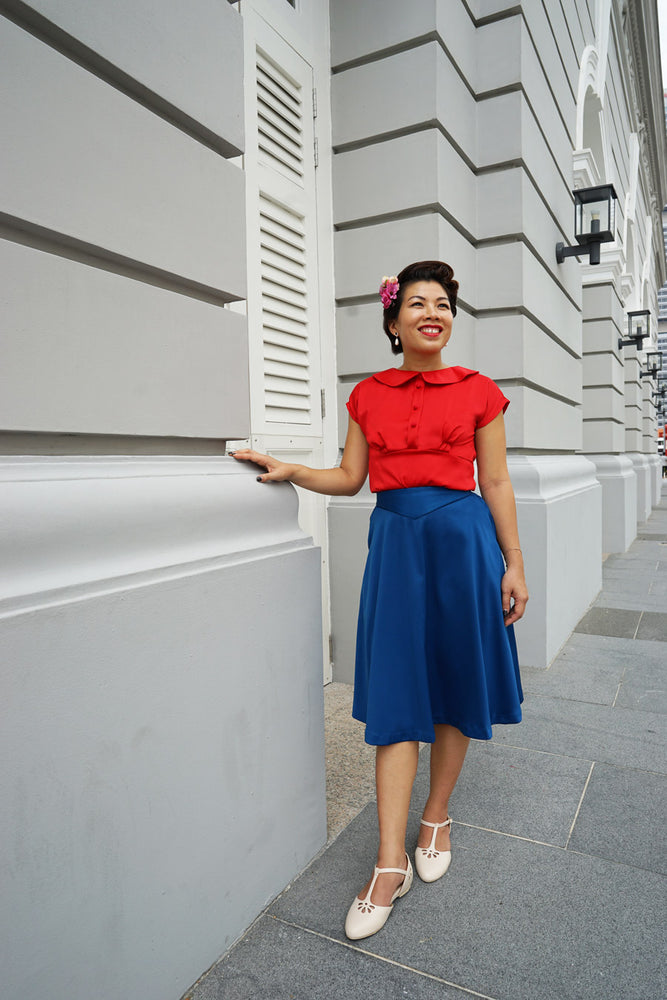Load image into Gallery viewer, NDP 2020 PROMO * EMILY Peter Pan blouse