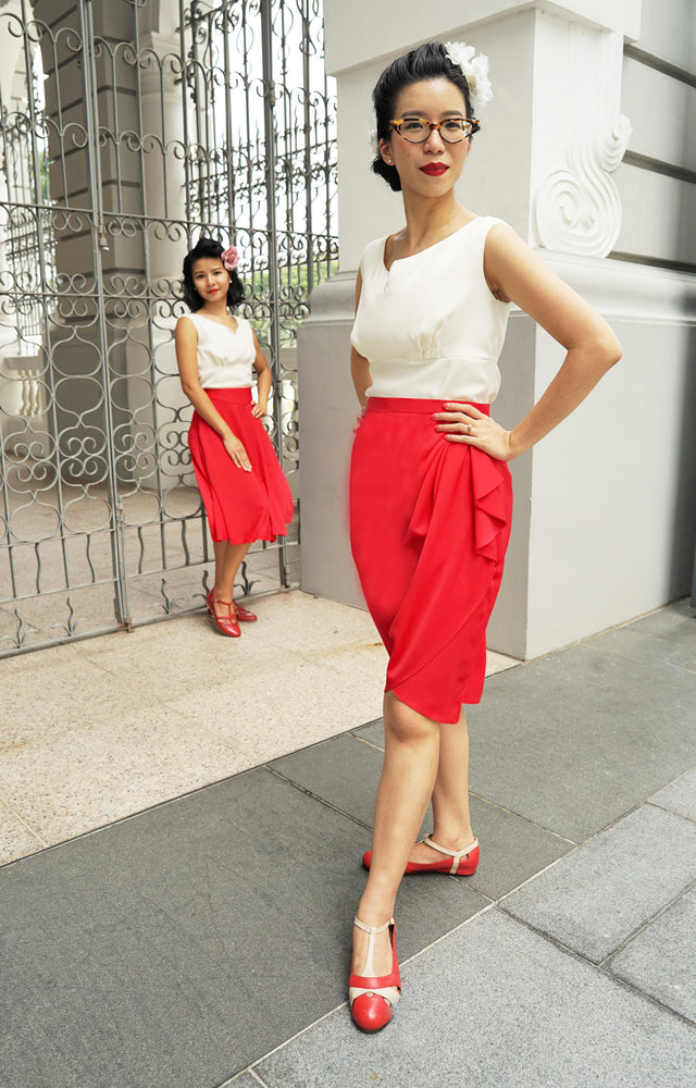SUSAN Side Drape Skirt