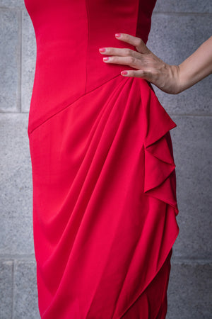 RUTH Side Drape Dress