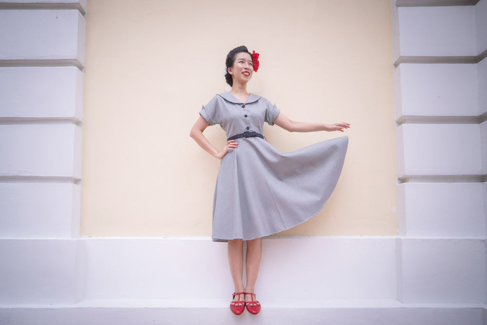 IRENE Hound Tooth Dress