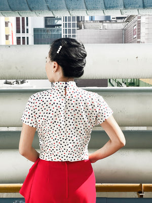Load image into Gallery viewer, Siok Hong Printed Cheong Sam Blouse