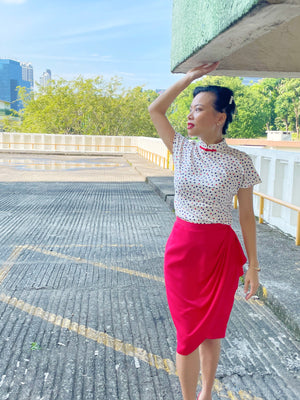 Siok Hong Printed Cheong Sam Blouse
