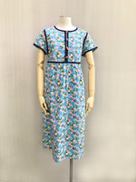 Blue Binding Floral Dress