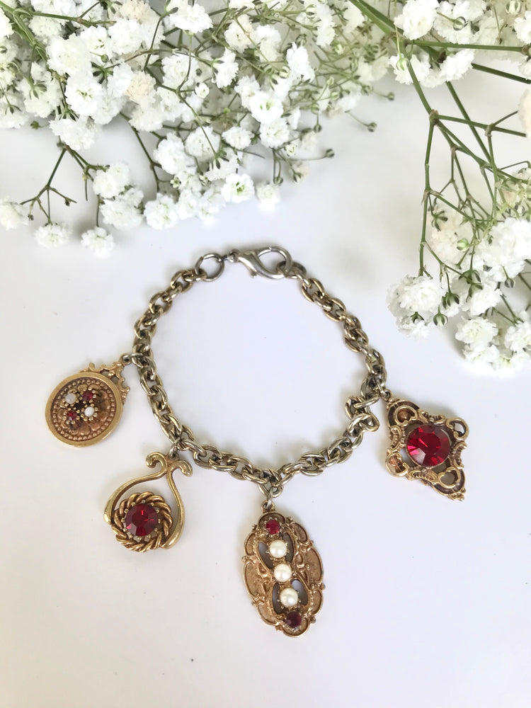 Load image into Gallery viewer, 80s Baroque Charm Bracelet