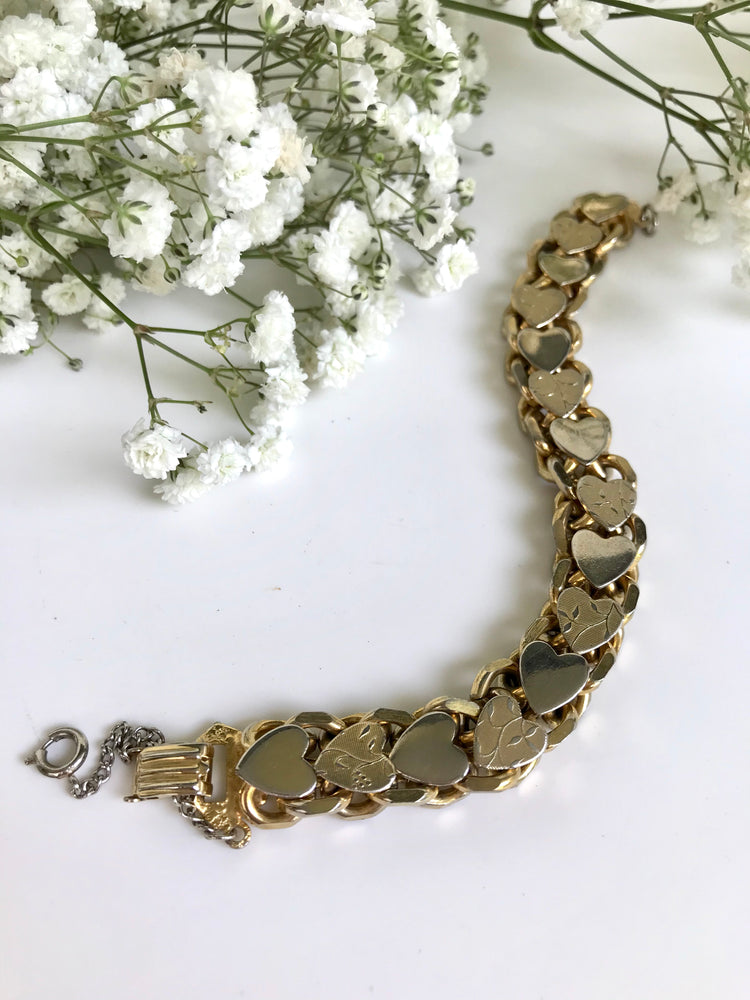 Load image into Gallery viewer, Hearts Chain Bracelet