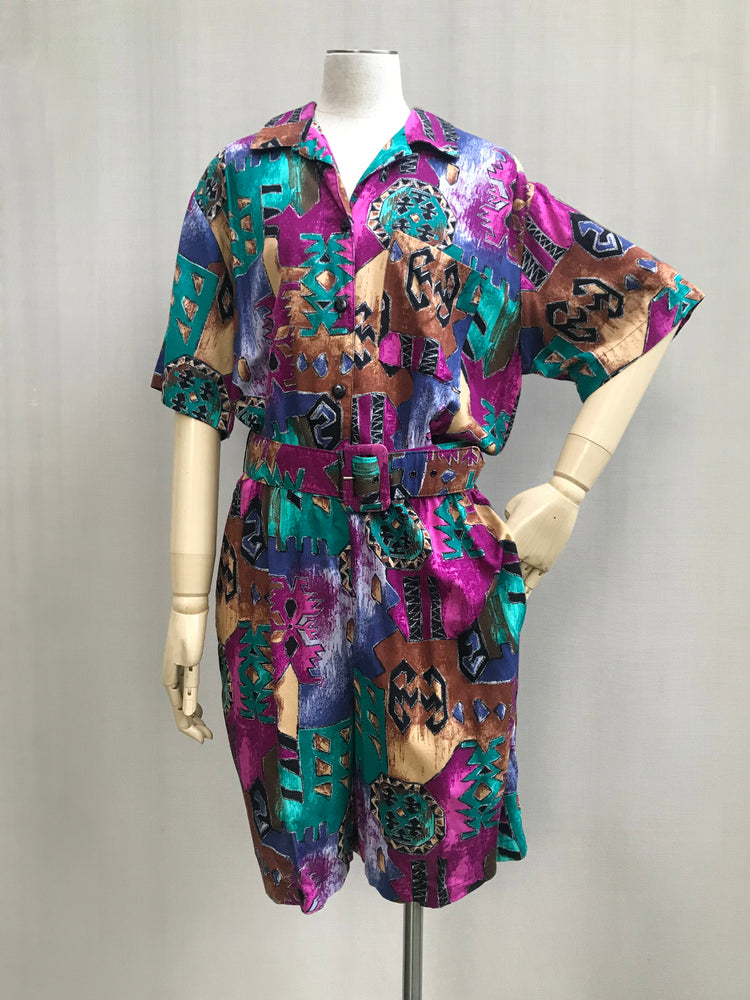 Load image into Gallery viewer, 80s Big Bright & Bold Playsuit