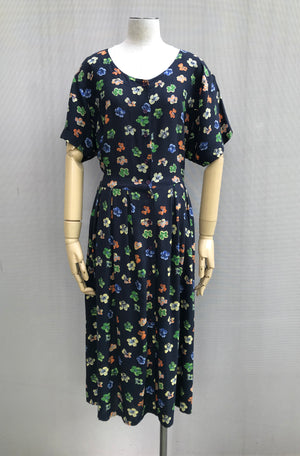 Pretty Floral Tea Dress With Back-tie