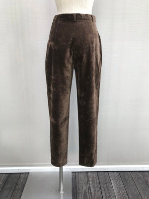 80s Cotton Velvetin High Waisted Trousers