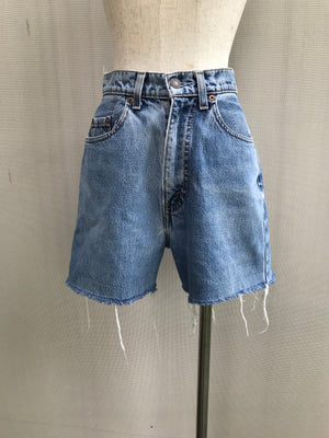 80s Classic Levi Strauss High Rise Acid-Wash Cropped Denim Shorts