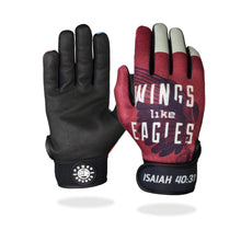 "Load image into Gallery viewer, ""Wings Like Eagles"" Batting Gloves"