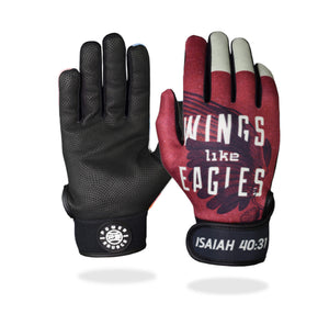 """Wings Like Eagles"" Batting Gloves"