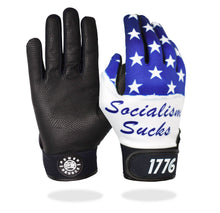 "Load image into Gallery viewer, ""Socialism Sucks"" Batting Gloves"