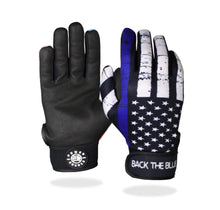 "Load image into Gallery viewer, ""Back the Blue"" Batting Gloves"