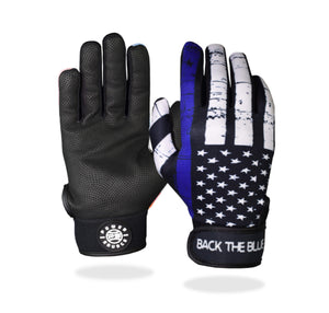 """Back the Blue"" Batting Gloves"