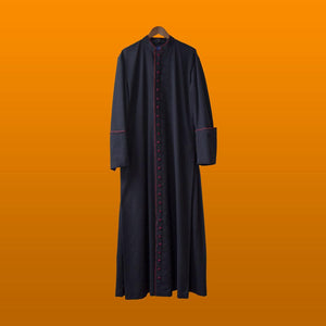 Cassock with red trim