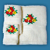 Embroidered bathroom linen
