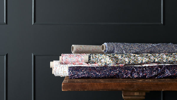 Liberty Fabrics, prints on tana lawn cotton and silk satin.