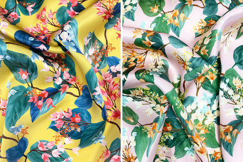 Coco & Wolf's Autumn Winter Liberty Print Silk in Osterley