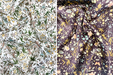 Coco & Wolf's Autumn Winter Liberty Print Silk in Tapestry