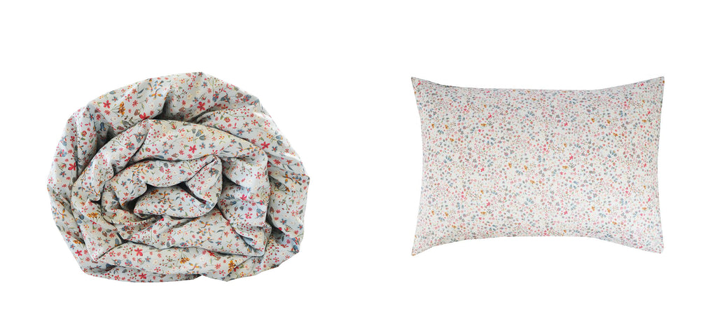 Coco & Wolf exclusive Liberty print fabric, Donna Leigh in Silver Blue