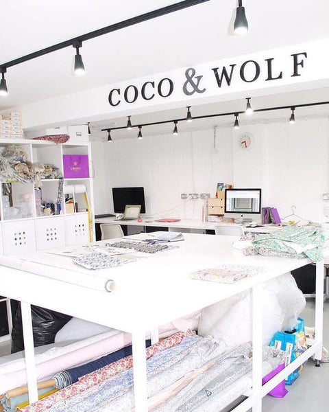 Coco & Wolf Studio based in Somerset making Libery fabric products.