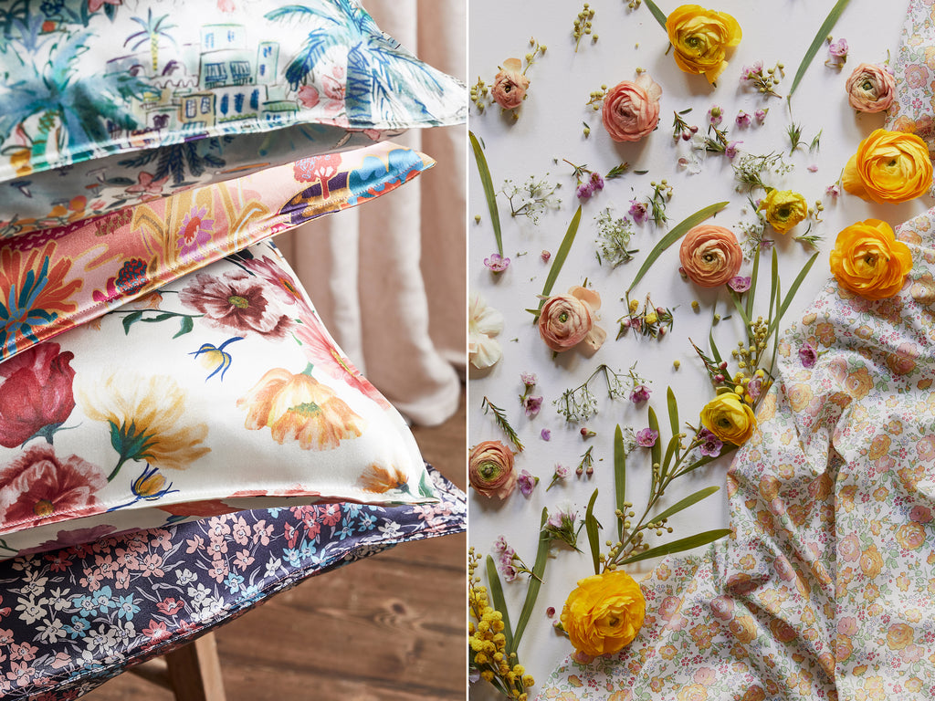 Coco & Wolf's new collection, The Imagining, Liberty fabric homeware and bedding.
