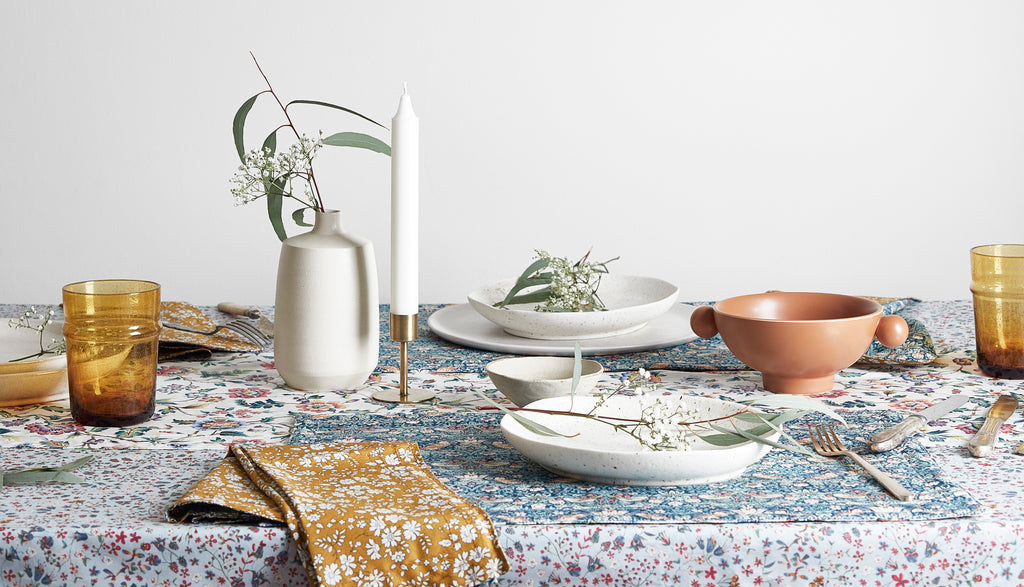 Coco & Wolf's new collection, The Imagining, table linen.