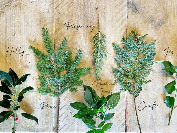 Foraged foliage for wreath making