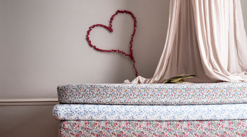 Collection header image all nursery bedding made with liberty fabric coco and wolf