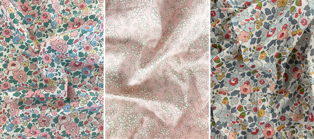Coco & Wolf exclusive Liberty print fabric pairings.