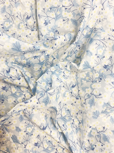 Liberty print exclusive fabrics for Coco & Wolf, Mitsi Blue