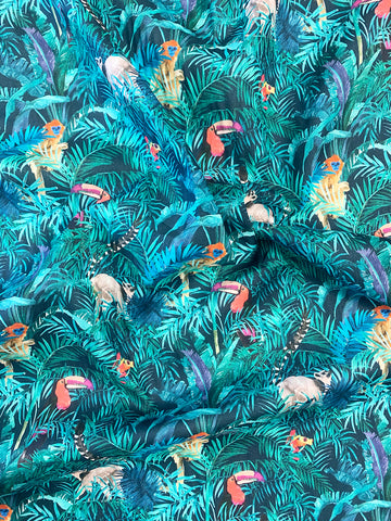 Coco & Wolf Spring Summer 2021 Liberty Fabrics, Tou-Can Hide.