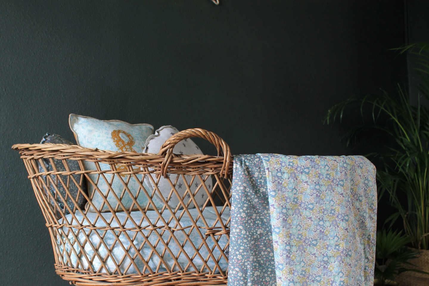 Liberty print bedding coco and wolf