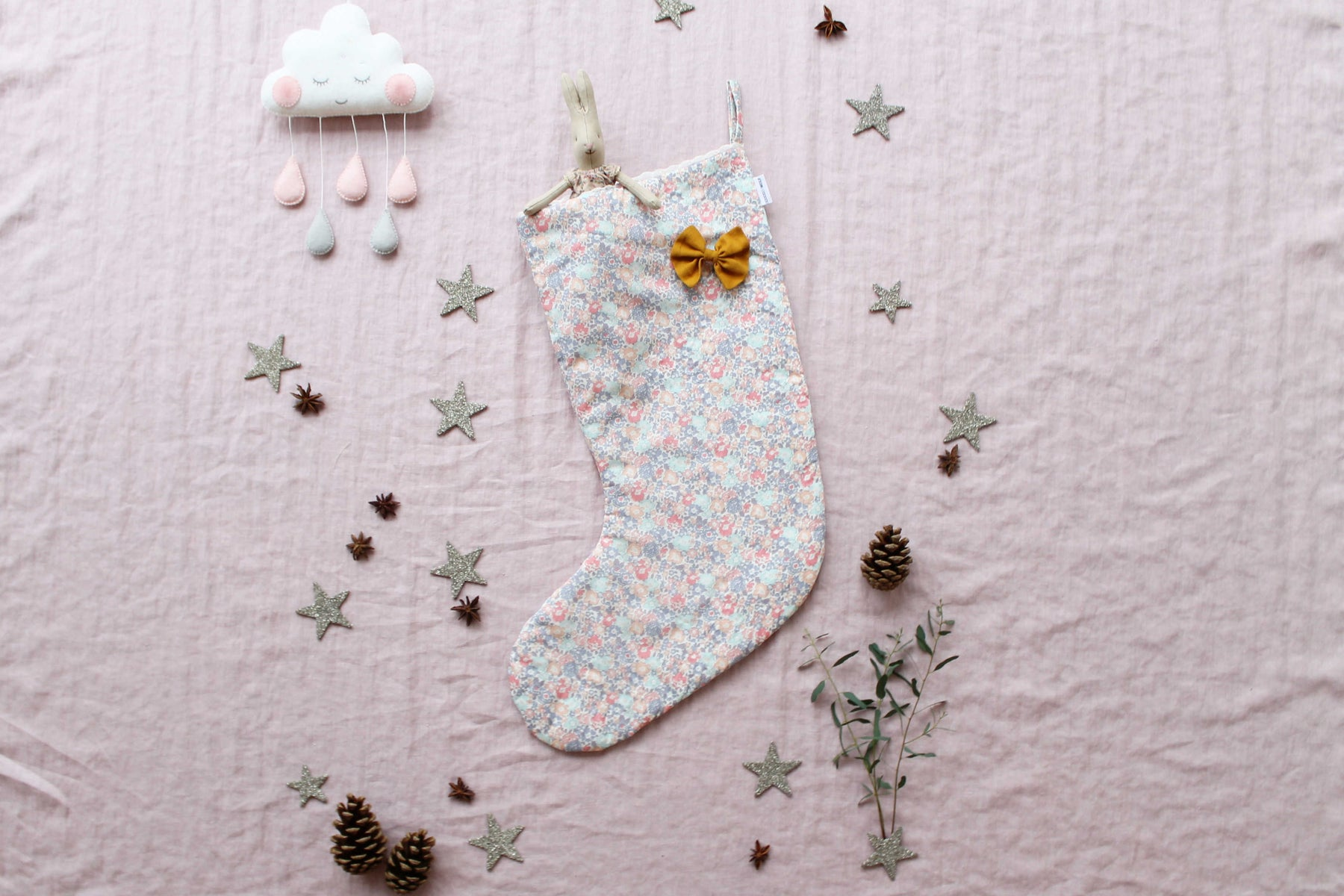 Coco and wolf liberty print Christmas stocking