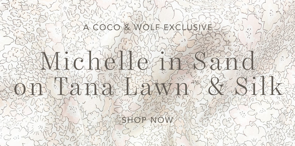 Shop Coco & Wolf's exclusive new print, Michelle in Sand.