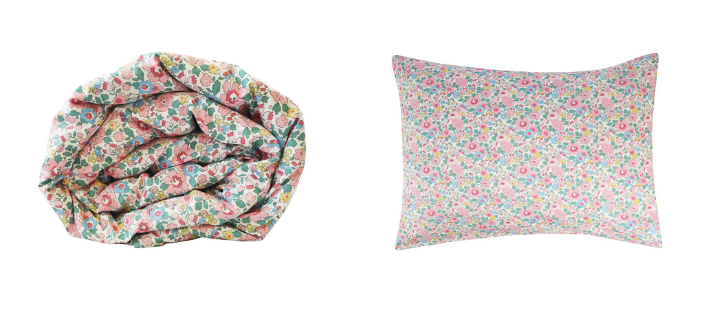 Coco & Wolf exclusive Liberty fabric, Betsy in Candy Floss.