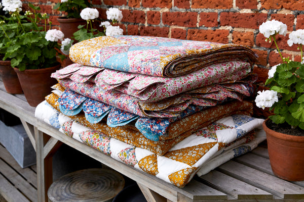 scallop bedspreads patchwork bedspread coco and wolf liberty print floribunda liberty london