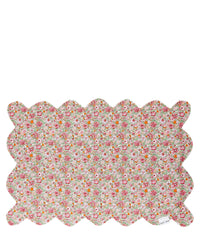 coco and wolf scallop placemat amelie danjo pink floribunda liberty london