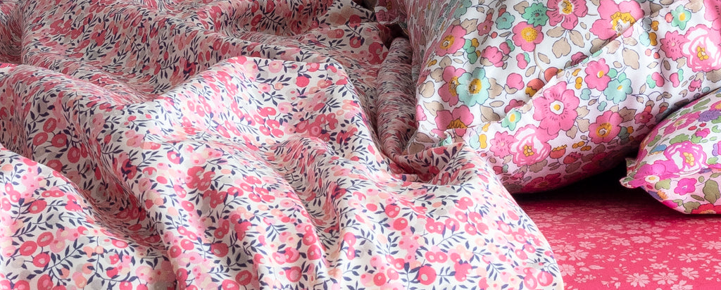nursery duvets made with liberty fabric coco and wolf