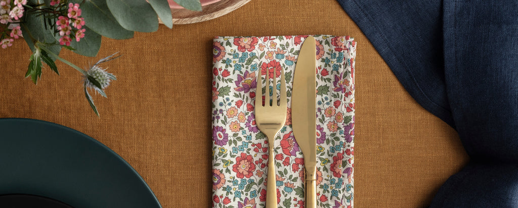 napkins made with liberty fabric coco and wolf
