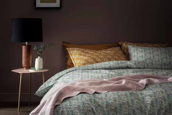 bedroom inspiration from coco and wolf bedding made with liberty fabric