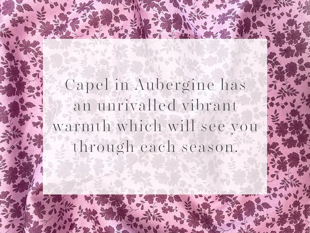 Capel in Aubergine has an unrivalled vibrant warmth which will see you through each season.