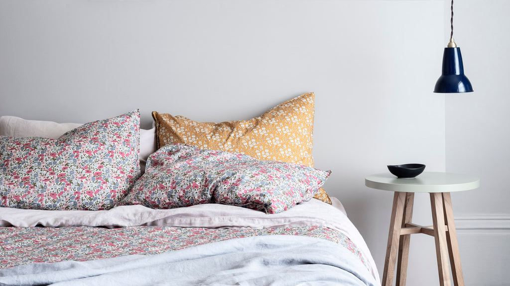coco and wolf liberty print bedding poppy and daisy rose capel mustard