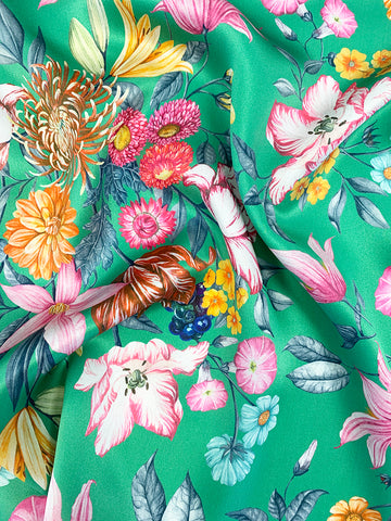 Coco & Wolf's Autumn Winter Liberty Print Silk in Stately Bouquet
