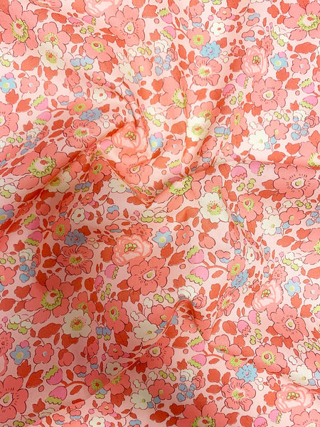 Liberty print exclusive fabrics for Coco & Wolf, Betsy Coral.