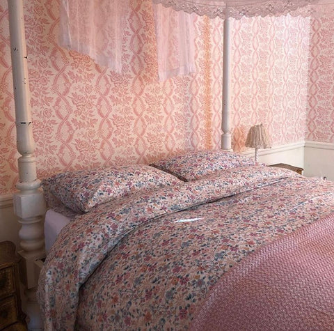 pink bedroom pearl lowe mini pavilion liberty print bedding coco and wolf